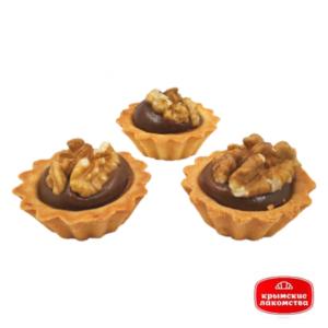 Печенье сдобное «Корзинка» с варёным сгущенным молоком и грецким орехом 400 г Айнур