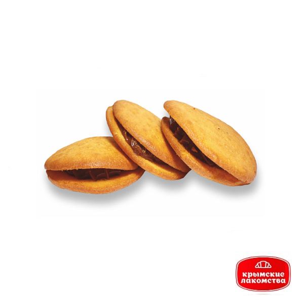 Печенье сдобное бисквитное прослоённое варёной сгущёнкой «Сластёна» 1,8 кг Айнур