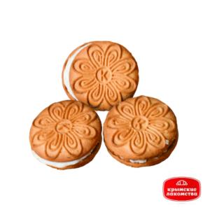 Печенье сахарное «Крым-сэндвич с молочной начинкой» 1 кг Айнур